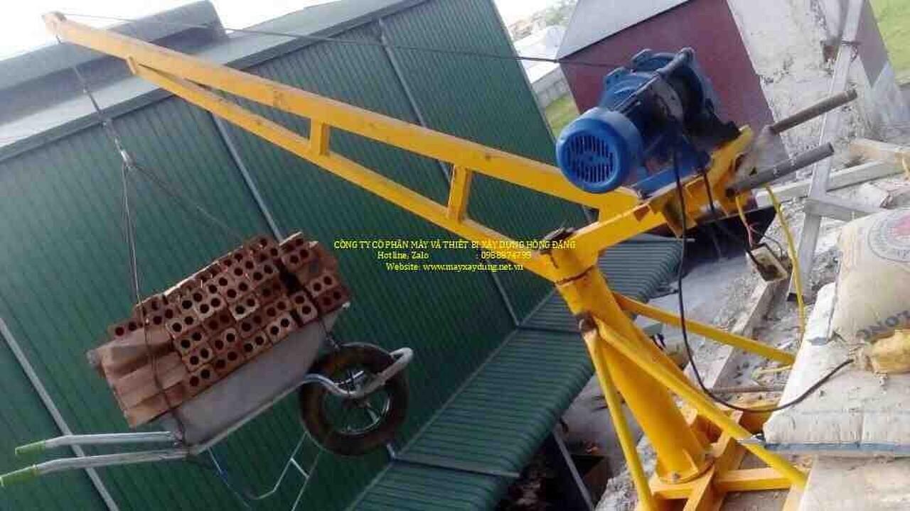 Tời cẩu quay 360 xây dựng - điện 220v - 800kg giá rẻ