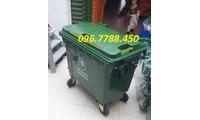 Thùng rác nhựa 660 lít, thùng rác 4 bánh xe, thùng rác nhựa