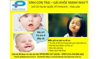 Sinh con theo ý muốn - tỷ lệ thành công cao tại Thái Lan - 0903216246
