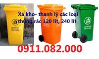 Xả kho thùng rác, xe gom rác giá sỉ- Thùng rác 120 lít, 240 lít giá rẻ