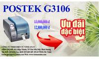 Máy in tem nhãn mã vạch Postek G3106