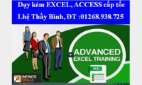 Dạy kèm Excel, Access cấp tốc, đi làm