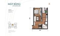 Chính chủ gửi bán gấp căn hộ 1 phòng ngủ, 1 bếp, 1 Phòng khách, 1 WC