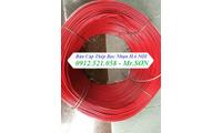 Dây cáp thép bọc nhựa màu đỏ Ø6-Ø8 tại Hà Nội. Tăng đơ ống cầu thang, rẻ