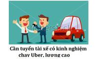 Tuyển gấp 5 tài xế lái Uber!!!!!!!