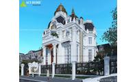 Thiết kế biệt thự kiểu pháp 3 tầng đẹp  với diện tích 128m2 đẹp