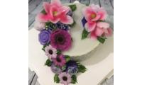 Khuôn silicone rau câu hoa nổi 4d