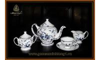 Bộ trà cao cấp gốm sứ Minh Long I 1.3L Lạc hồng vàng-01134037403