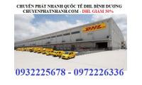 Dịch vụ chuyển phát nhanh quốc tế DHL Bình Dương