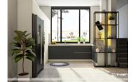 Mẫu thiết kế tủ bếp Laminate đơn sắc - Thiên Furniture