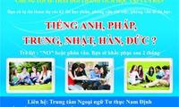Lớp tiếng Hàn học tại Nam Định