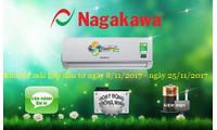 KM từ 8- 25/11/2017 khi mua máy lạnh treo tường Nagakawa