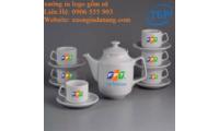 Sản xuất bộ ấm trà tại Bình Định , In logo ấm trà tại Bình Định