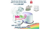Máy hút sữa đôi Avent SCF33402