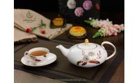 Bộ trà elip 0.47L Thiên Kim 68470246103 gốm sứ Minh Long 1