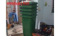 Thùng rác công nghiệp 120 lít loại thường giá rẻ liên hệ 0905681595