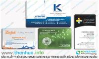 Name card siêu mỏng chất liệu thẻ nhựa pvc trong cao cấp, thiết kế đẹp