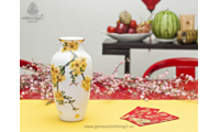 Bình hoa mai vàng 27 x 14.5 cm 112776295 gốm sứ Minh Long I