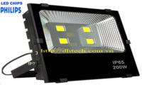 Đèn pha led 200W chip Philips bảo hành 2 năm