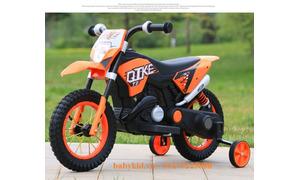 Xe máy điện trẻ em QK-305 bánh cao su bơm hơi