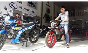 Xe máy Suzuki côn tay, xe ga, các loại, chính hãng, giá đại lý