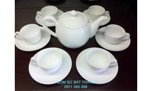 In logo bộ ấm trà Bát Tràng tại Đà Nẵng