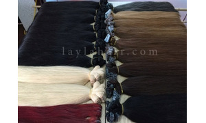 Vietnam human remy hair straight weft and tape hair 24″