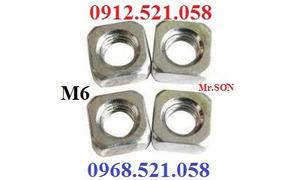 Bán đai ốc vuông M6,8,10,5,4, ê cu vuông lục giác chìm M6,8 máy CNC