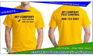 May áo thun đồng phục màu vàng giá rẻ