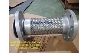 Khớp nối mềm bích thép, khớp giãn nở inox DN100