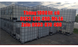 Bồn nhựa 1000 lít nhập khẩu, tank nhựa đựng thực phẩm mới 1000 lít cũ